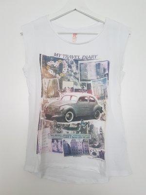 Zara Trafaluc T-shirt wit Katoen