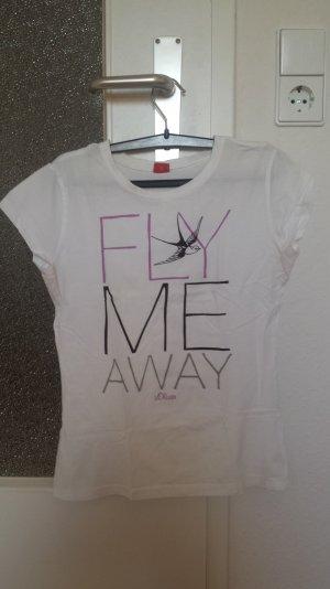 Weißes Tshirt mit Schrift