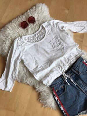 Weißes Tshirt mit Spitze