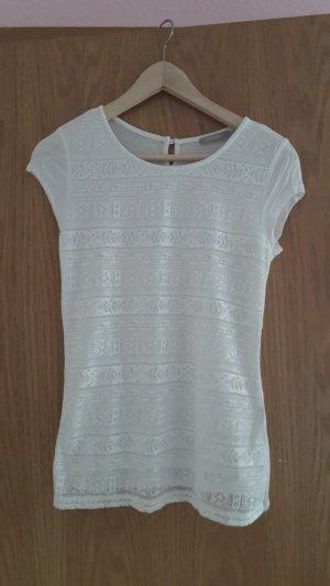 Weißes Tshirt Shirt von Orsay in Größe XS mit Spitze