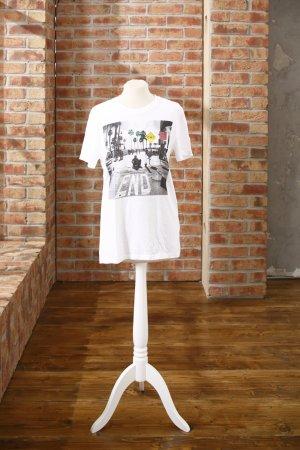 Weißes Unisex T-Shirt von H&M