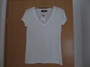 Weißes V-Shirt von HALLHUBER - NEU MIT ETIKETT ! - Größe XS