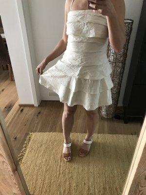 Weißes Volant Kleid von Vila Lagenlook 36/38 Leinenkleid