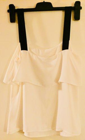 Weißes Volanttop von H&M
