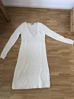 Benetton Vestido de lana blanco puro