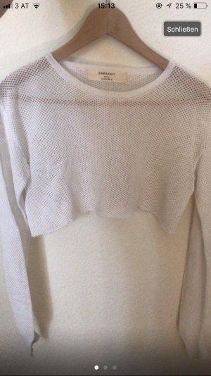 Zara Top à manches longues blanc