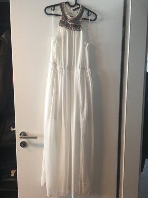 Weißes Zara Kleid mit Applikationen, Gr. S