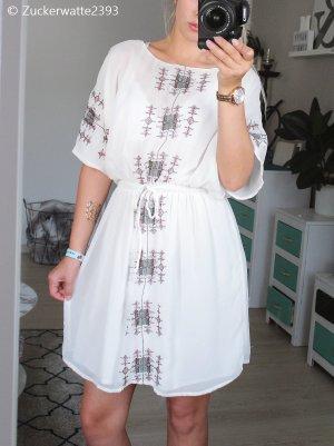 weißes Zara Kleid mit Stickerei 36/S
