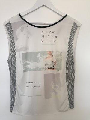 Weißes Zara Top mit Print Gr. S
