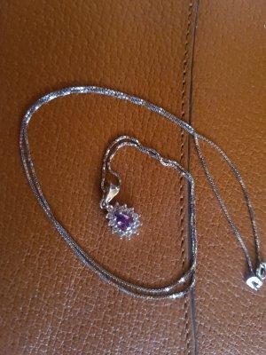 Gouden ketting zilver-paars