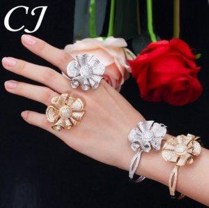 WeißGold Vergoldet Ring und Braccelet