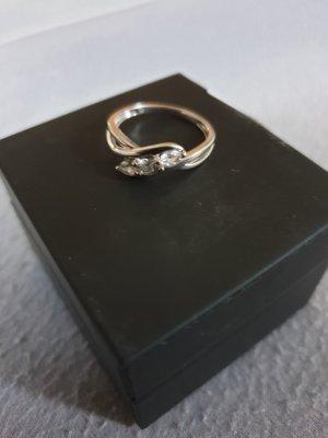 no name Gouden ring zilver