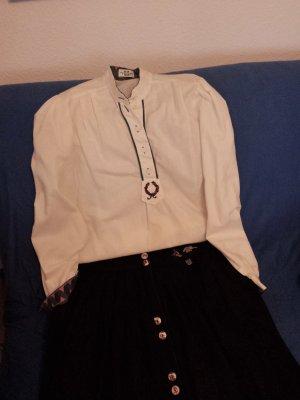 Perry Landhaus Folkloristische blouse wit Katoen