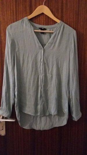 weit geschnittene Bluse in mintgrün