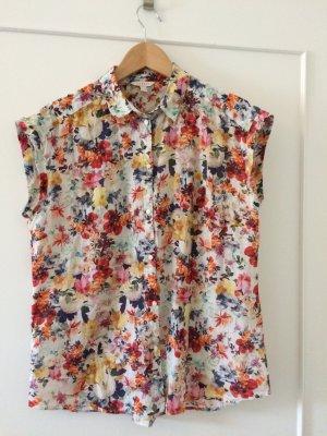 Weite Bluse mit Blumenprint von Esprit in Größe 38
