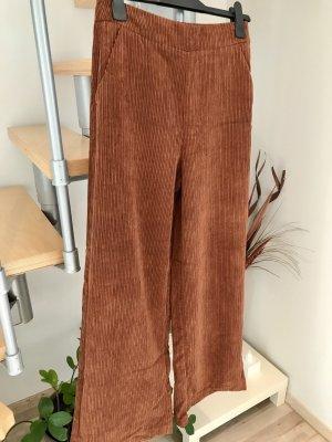 Stradivarius High Waist Trousers brown