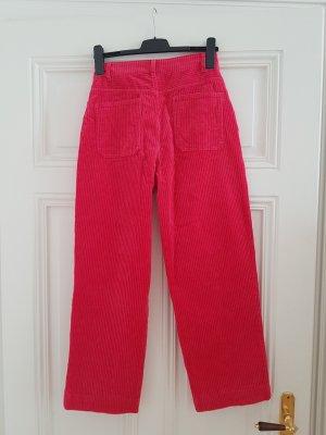 Monki Pantalón de pana rojo frambuesa