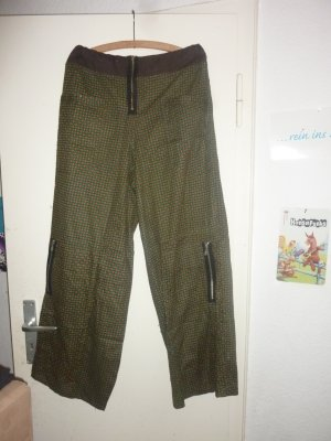 Harem Pants forest green-brown cotton