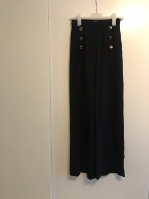H&M High Waist Trousers black-gold-colored