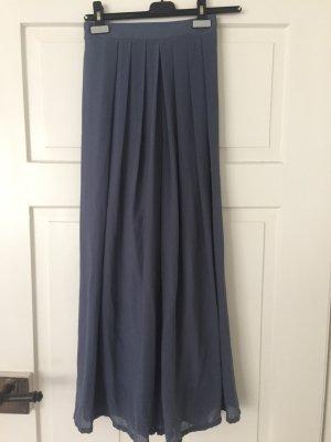 Weite Hose in blau-grau