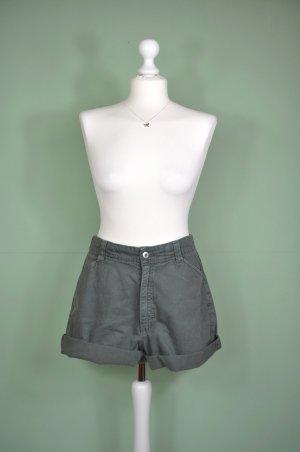 Weite Hose / Shorts in Khaki aus Cord