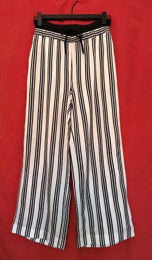 H&M Studio Pantalone a vita alta bianco sporco-nero Seta
