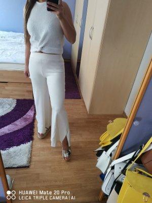 Zara Pantalón de cintura alta blanco puro