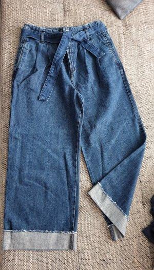 Zara Jeans marlene blu-blu scuro Cotone