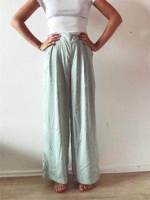 Monki Pantalón anchos azul pálido-verde grisáceo