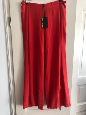 Roberto Cavalli Marlene Trousers brick red silk