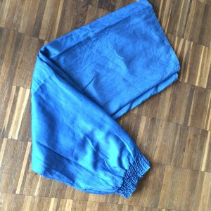 Pantalón palazzo azul acero lyocell