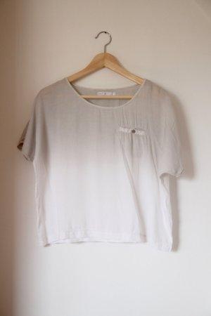 Weite T-Shirt Bluse mit Ombre-Farbverlauf