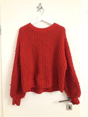 Weiter oversized  XXL Strick Pullover Rot