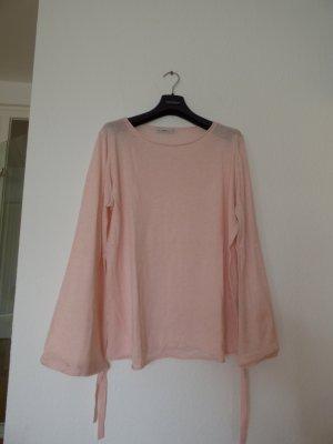 Zara Knit Oversized trui lichtroze-rosé Polyester