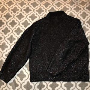 H&M Oversized Sweater black viscose