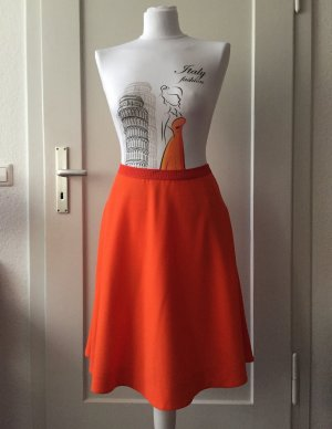 COS Circle Skirt orange cotton