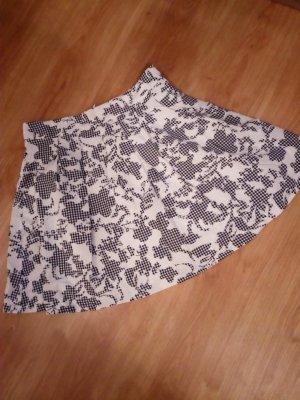 Orsay Flared Skirt black-white polyester
