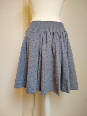 H&M Circle Skirt azure cotton