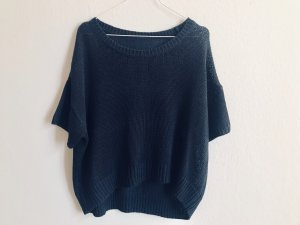 Short Sleeve Sweater dark blue