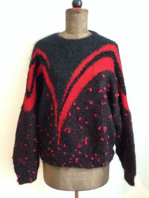 Weiter Vintage Pullover aus Mohair Mischung, passt Gr. 40/42
