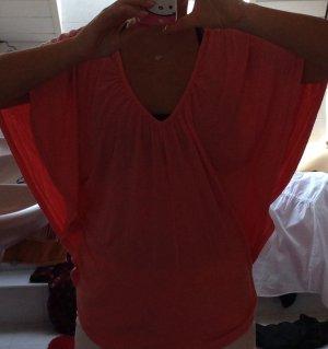 Weites Fledermaus-Shirt in Rosa Größe M