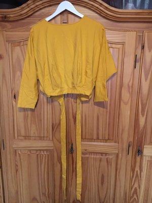 SheIn Wraparound Shirt gold orange