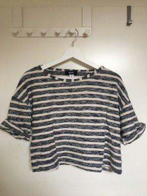 BDG T-shirt rayé bleu-blanc coton