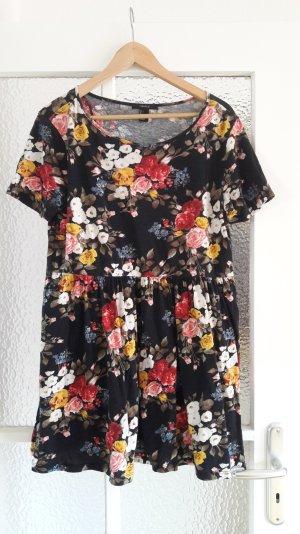 Weites Shirtkleid mit Blumenmuster