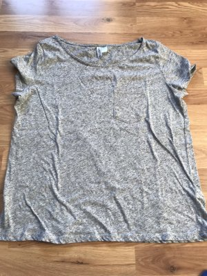 H&M T-shirt grijs-grijs-lila