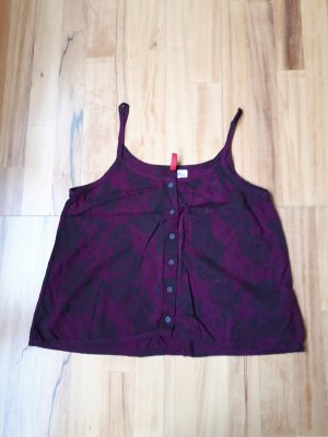 H&M Divided Spaghetti Strap Top blackberry-red-purple