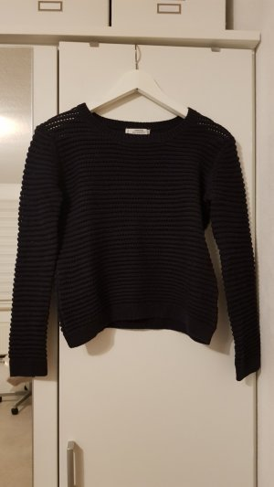 Mango Coarse Knitted Sweater dark blue