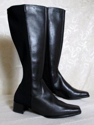 Dorndorf Wide Calf Boots black leather