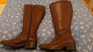 DUO Wide Calf Boots brown leather