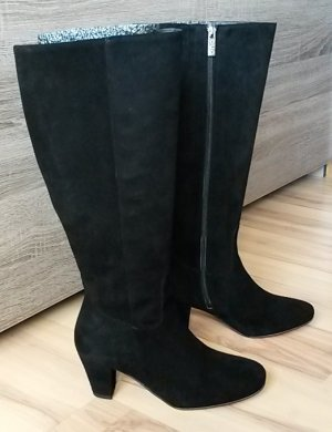 DUO Wide Calf Boots black suede